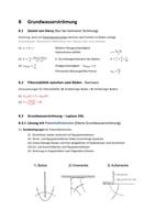 ZUSAMMENFASSUNG: B - Grundwasserströmung