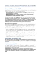 SAMENVATTING: Summary Strategy and Human Resource Management