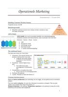 SUMMARY: Operationele marketing - Samenvatting (MAR2)