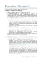 SAMENVATTING: Samenvatting management