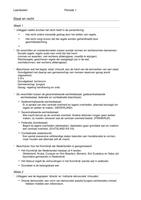 SUMMARY: Leerdoelen P1, staat en recht
