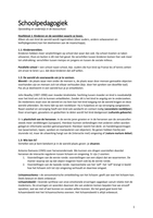 SAMENVATTING: Schoolpedagogiek H1 tm H8 + H13 + H14 en colleges