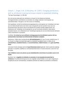 SUMMARY: Samenvattingen 9 artikelen sportpsychologie