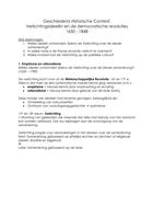 Samenvatting: Geschiedenis Historische Context - Verlichting ...