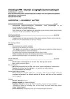 SUMMARY: Human Geography Samenvatting - Knox & Marston