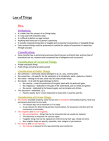 LECTURE NOTES: Roman Law 271 Exam notes
