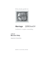 OTHER: Marriage Guidance in Word document