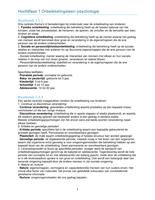 SAMENVATTING: Ontwikkelingsleer/ontwikkelingspsychologie