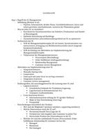 ZUSAMMENFASSUNG: Supply Chain Management Lernübersicht