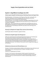ZUSAMMENFASSUNG: Supply Chain Management Kapitelzusammenfassung