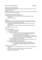 SUMMARY: Samenvatting Food practice and legislation blok 1.4