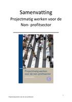 SUMMARY: Projectmatig werken voor de non-profit sector