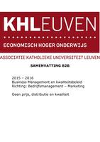 SAMENVATTING: Samenvatting Businessmarketing