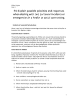study notes for unit health safety and security in health and  p4 explain possible priorities and responses when dealing two particular incidents o unit 3 p4 explain possible priorities and responses when