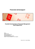 CASE: Moduleopdracht NCOI, Financieel adviesrapport, cijfer 9
