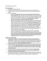 LECTURE NOTES: Renaissance Notes