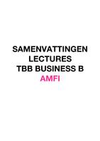 SUMMARY: TBB BUSINESS B