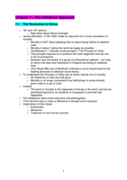 SUMMARY: Chapter 7: The Utilitarian Approach