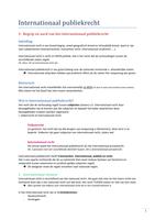 SAMENVATTING: Samenvatting internationaal recht
