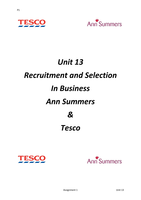 unit 1 p1 tesco Unit 1: the business environment assignment brief issue date: p1 describe the type of business, purpose and ownership of two contrasting businesses p2.