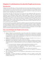 NOTES DE COURS: la déclaration et le calcul de l'impôt sur le revenu.