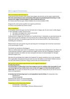 LECTURE NOTES: Wetenschapsfilosofie werkcolleges 2 t/m 5