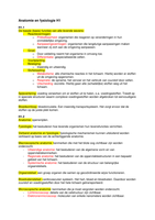 SUMMARY: Anatomie en fysiologie H1