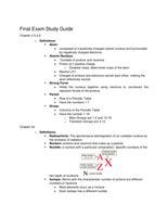 Exam: Fall 2016 Chemistry 115 Final Exam Study Guide