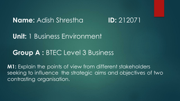 CASE: m1 The business environment