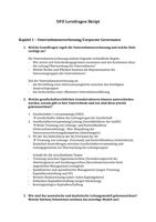 ZUSAMMENFASSUNG: Unternehmensführung & Organisation Lösungen der Lernfragen