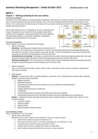 SAMENVATTING: Summary Marketing: Marketing Management - Kotler & Keller (15th edition)
