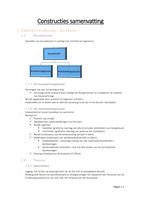 SUMMARY: Samenvatting constructies 1