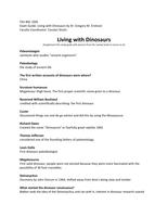 Exam: BSC 1005 | Living with Dinosaurs | Exam guide FSU