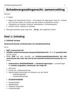 SAMENVATTING: Samenvatting Schadevergoedingsrecht