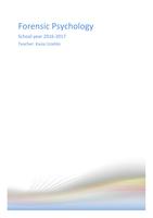 SAMENVATTING: Forensic Psychology - Summary 2016-2017