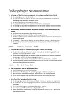 Prüfung: Prüfungsfragen Neuroanatomie