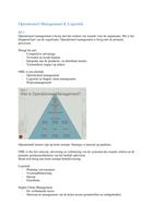 SUMMARY: Samenvatting van àlle hoorcolleges van Operationeel Management & Logistiek