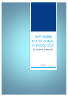 SAMENVATTING: HAP-30306 - Nutritional Physiology - Overview