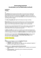 SAMENVATTING: Samenvatting strafrecht: boek grondtrekken van het Nederlandse strafrecht