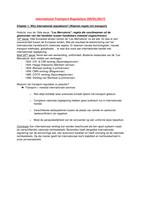 SAMENVATTING: International Transport Regulations (NL + oefeningen + oplossingen)