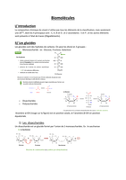 NOTES DE COURS: Biomolécules