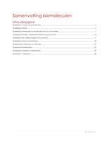 SUMMARY: samenvatting biomoleculen jaar 2