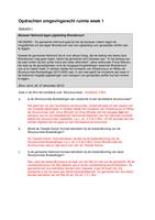 LECTURE NOTES: Omgevingsrecht Ruimte K4 uitwerkingen werkcolleges 1-7