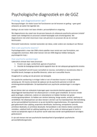 SUMMARY: Psychologische diagnostiek in de GGZ (Derksen)
