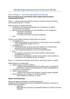 SUMMARY: Uitwerking van collegeslides met aantekeningen - MCNM