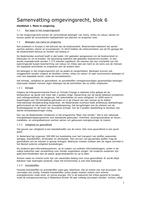 SUMMARY: Samenvatting omgevingsrecht blok 6