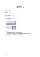 SUMMARY: Samenvatting Excel 2