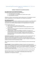 SUMMARY: Samenvatting Personeelsmanagement Hoofdstuk 3, 6, 7, 10, 11.1, 11.2 en 12
