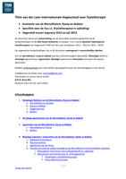 SUMMARY: Anatomie voor de bachelor Fys.i.o. - Wervelkolom, Romp en Bekken