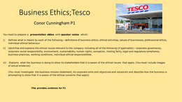 PRESENTATION: Unit 37 - Understanding Business Ethics - P1